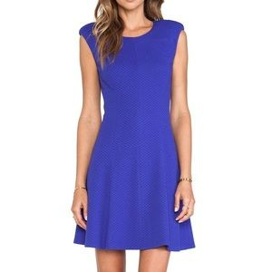 Rebecca Taylor ponte Royal blue dress textured